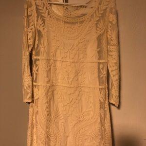 Ivory lace sheeth dress